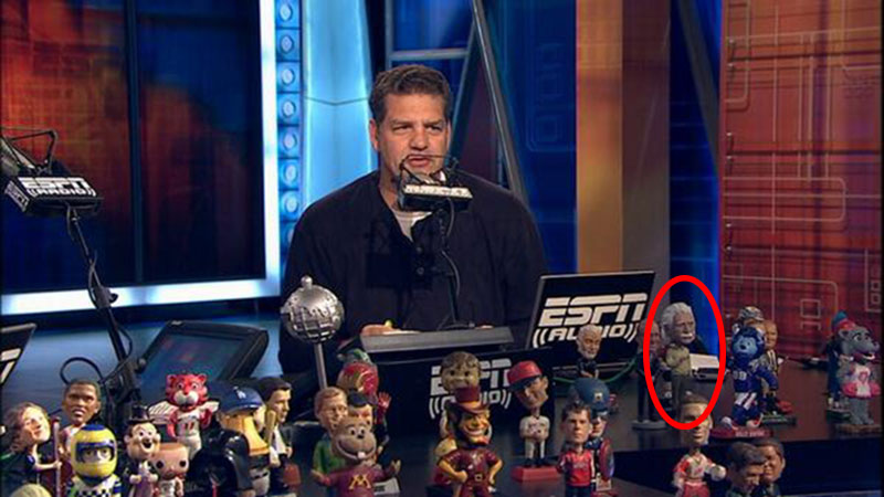 ESPN Mike and Mike Einstein Bobblehead