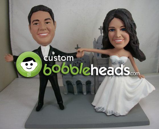 personalized bobblehead wedding cake toppers wedding cake bobblehead toppers mini bridal 6475