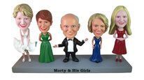 Fully Customizable Quintuple Bobblehead - Bobbleheads.com