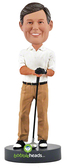 Male Golfer - Premium Figure - Bobbleheads.com