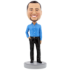 Slender Male Executive with Hand in Pocket - Premium Figure Bobblehead