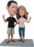 Laid Back Couple Bobblehead - Bobbleheads.com