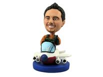 Pilot In Plane Bobblehead - Bobbleheads.com