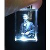 Abraham Lincoln 3D Laser Crystal Keychain