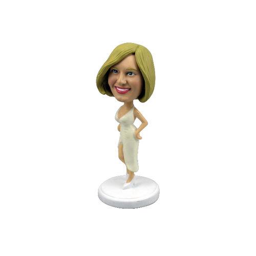 Bobblehead-sexy-woman-in-white-dress