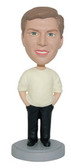 Relaxed Male With Hands In Pockets Bobblehead - Bobbleheads.com