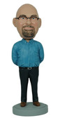 Man With Arms Behind His Back Bobblehead - Bobbleheads.com