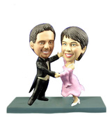 Bride and Groom Dancing Bobblehead - Bobbleheads.com