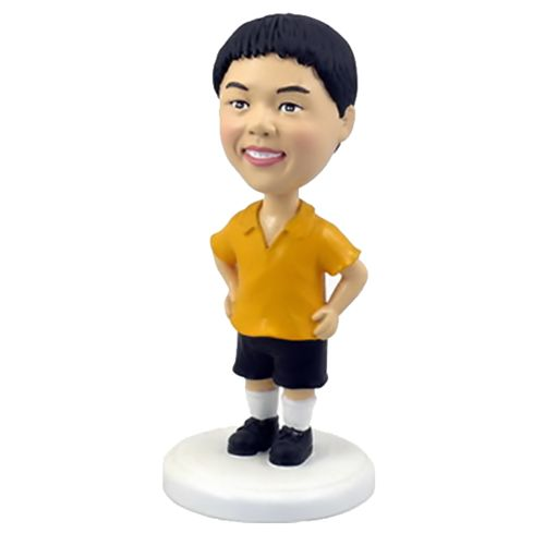 Photo of Young Boy In Shorts Bobblehead