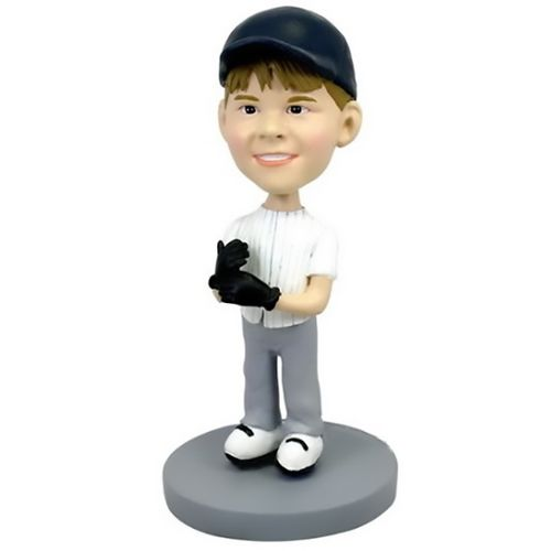 Photo of Child Baseball Player Bobblehead