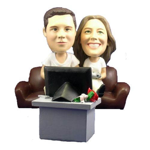 Photo of Couple Playing Video Games Bobblehead