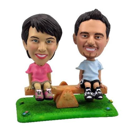 Photo of Couple On Seesaw Bobblehead