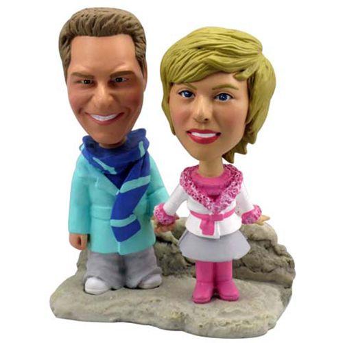 Photo of Winter Theme Couple Bobblehead