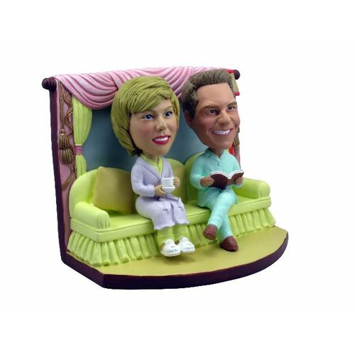 Photo 1 of Couple In Pajamas On the Couch Bobblehead