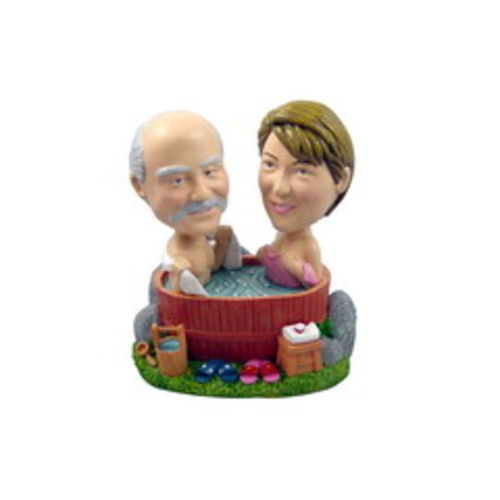 Photo of Couple In A Hot Tub Bobblehead