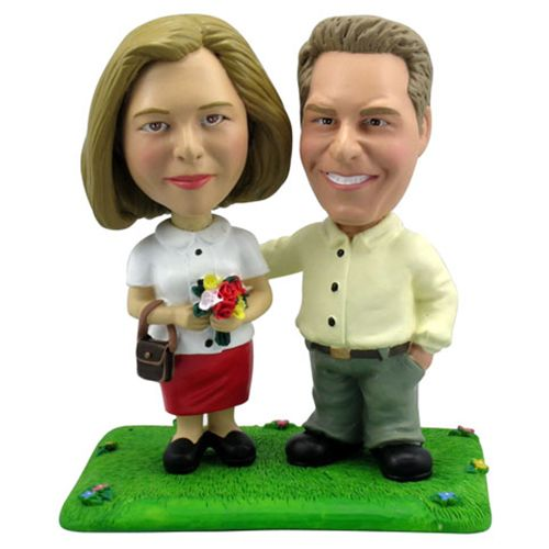 Photo of Conservative Couple Bobblehead