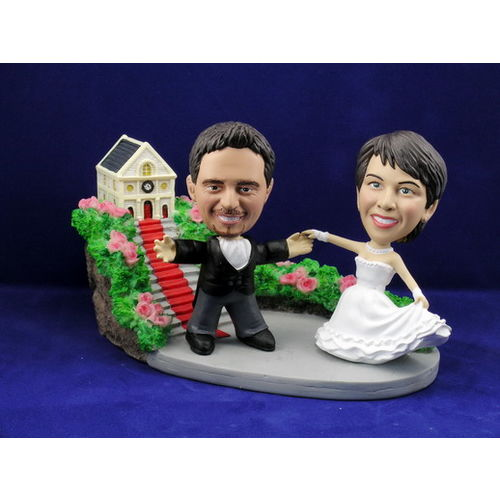 Photo 1 of Bride and Groom Dancing At Church Bobblehead