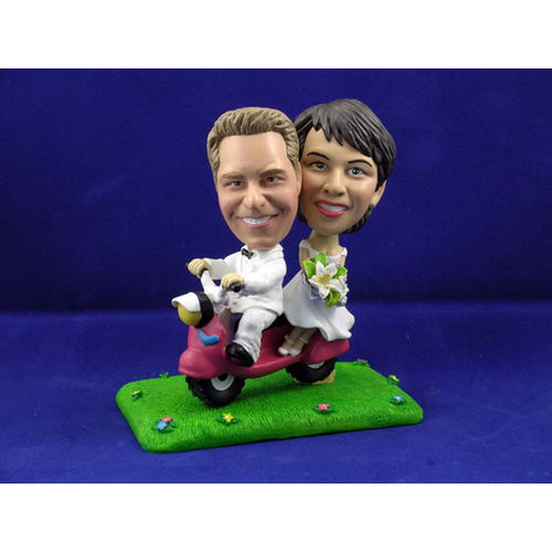 Photo 1 of Bride and Groom On Scooter Bobblehead