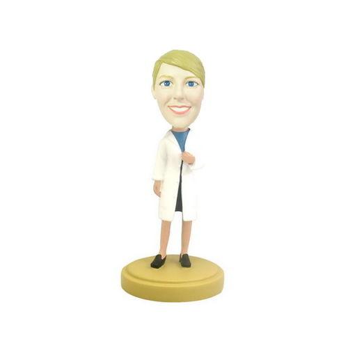 Photo 1 of Female Doctor In Lab Coat Bobblehead