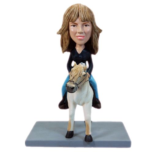 Photo of Woman On A Horse Bobblehead