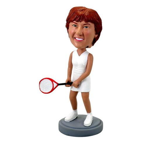 Photo 1 of Female Playing Tennis Bobblehead