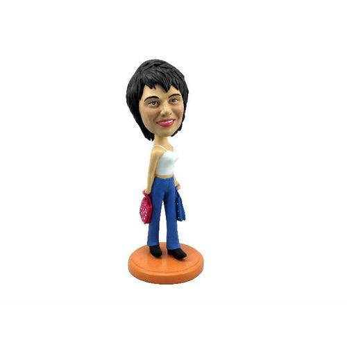 Photo 1 of Woman In Tank Top and Jeans Bobblehead