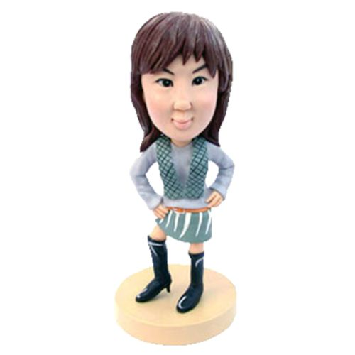 Photo of Teenager In Stylish Outfit & Boots Bobblehead