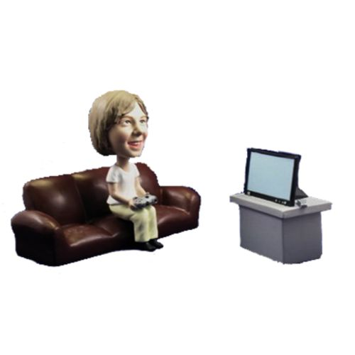 Photo of Young Girl Playing Video Games Bobblehead