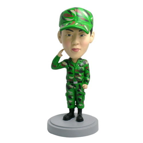Photo 1 of Soldier In Camouflage Bobblehead