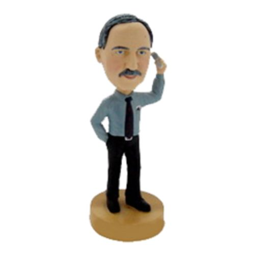 Photo of Businessman On Cellphone Bobblehead