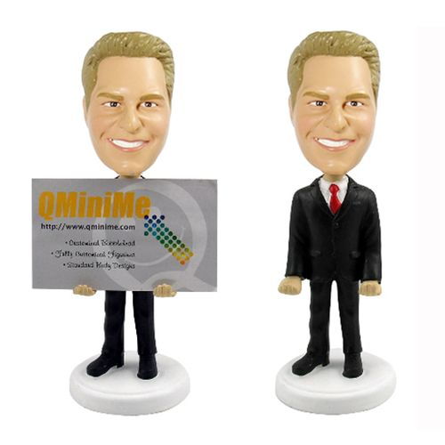 Photo of Male Executive Business Card Holder Bobblehead