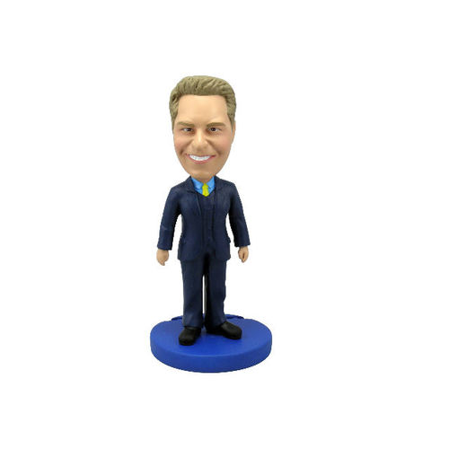 Photo 1 of Male Executive In Blue Suit Bobblehead