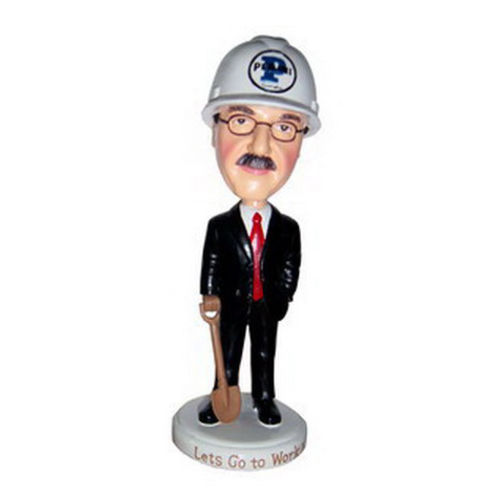 Photo 1 of Male Executive In Hard Hat Bobblehead