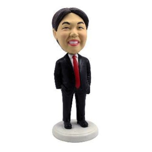 Photo of Male Executive In Red Tie Bobblehead