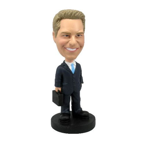 Photo of Male Executive With Briefcase Bobblehead