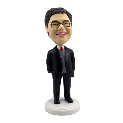 Photo of Male Occupation In Business Suit With Sweater Bobblehead