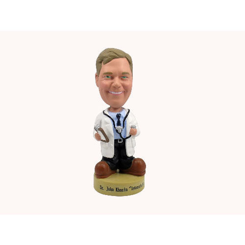 Photo 1 of Doctor Holding Clipboard and Stethoscope Bobblehead