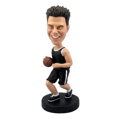 Photo of Basketball Player Dribbling With Black Uniform Bobblehead