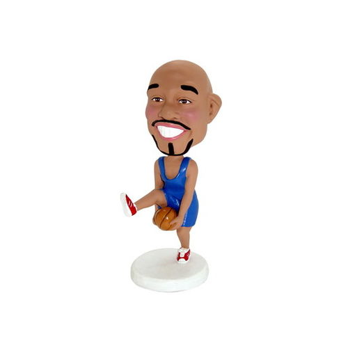Photo 1 of Basketball Player Dribbling Under His Legs Bobblehead