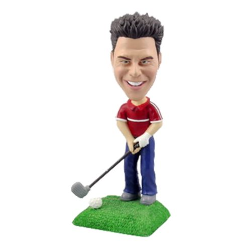 Photo of Golfer With Club Bobblehead