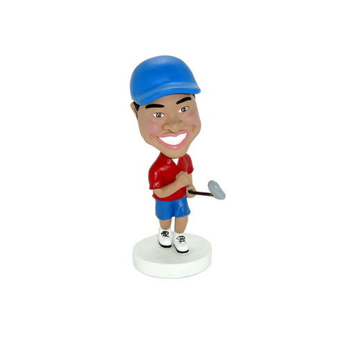 Photo 1 of Golfer With Club In Hand Bobblehead