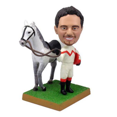 Photo 1 of Jockey With His Horse Bobblehead