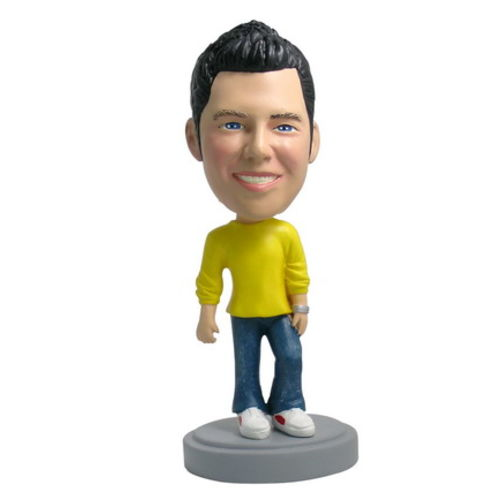 Photo 1 of Man In Sweater and Jeans Bobblehead