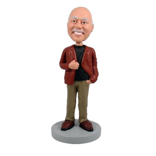 Photo 1 of Man In Leather Jacket Bobblehead