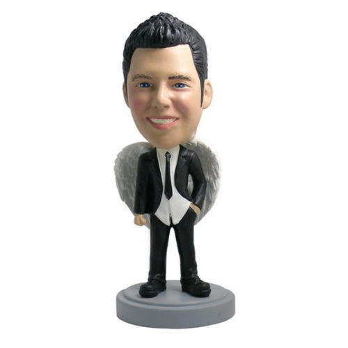 Photo 1 of Man With Angel Wings Bobblehead