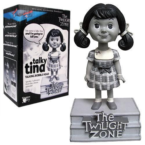 Photo 1 of The Twilight Zone Talky Tina Talking Bobble Head