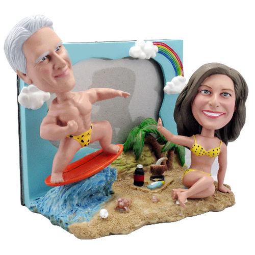 Photo of Couple On Beach Bobblehead