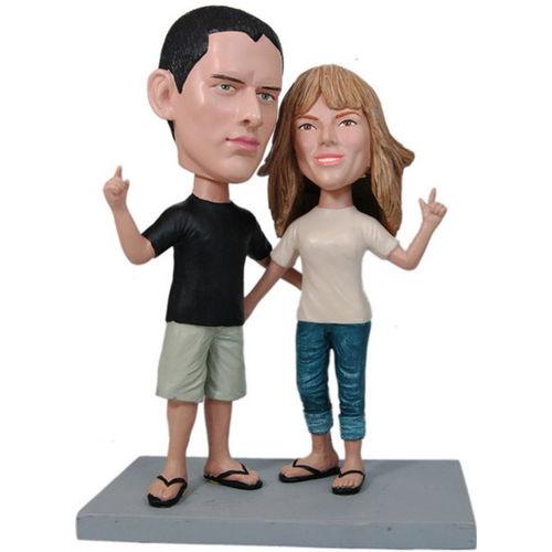 Photo of Laid Back Couple Bobblehead