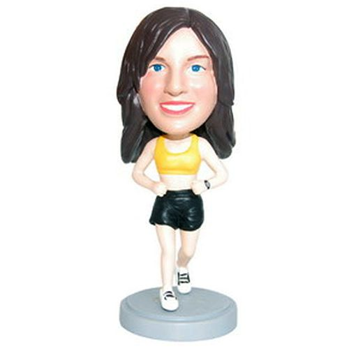 Photo of Female Runner Bobblehead