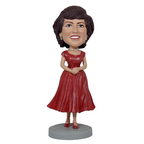 Photo of Woman In Red Dress Bobblehead